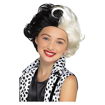 Meisjes kwaad Madame pruik Halloween Fancy Dress accessoire