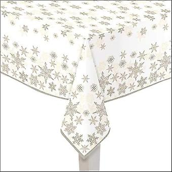 Ambiente Tablecloth Snow Crystals Gold 140 x 220cm