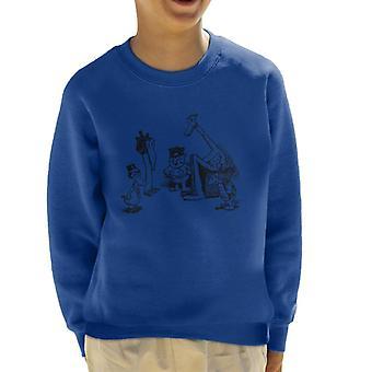 Krazy Kat Huddle Plain Kid's Sweatshirt