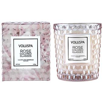 Voluspa Roses Boxed Textured Glass Candle Rose Colored Glasses 184g