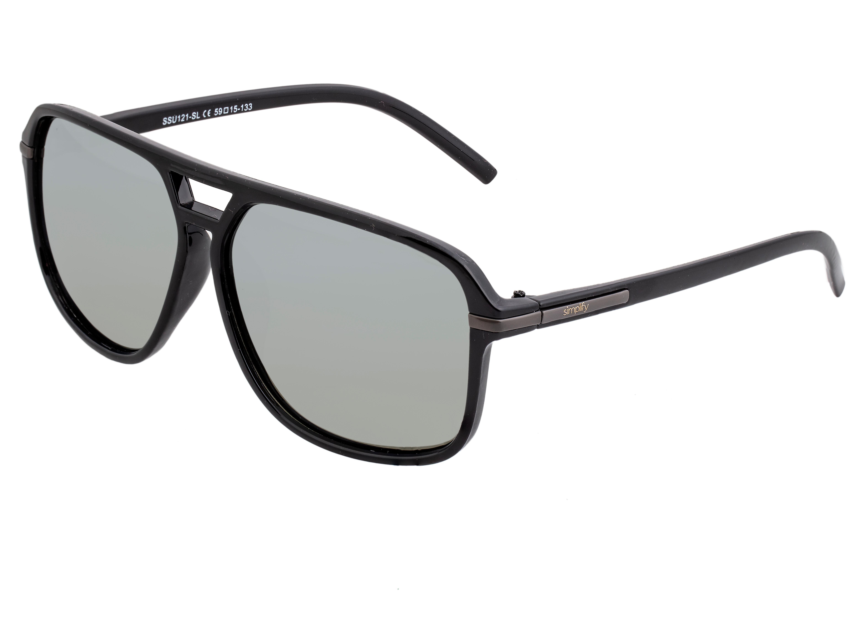 Simplify Reed Polarized Sunglasses - Black/Silver