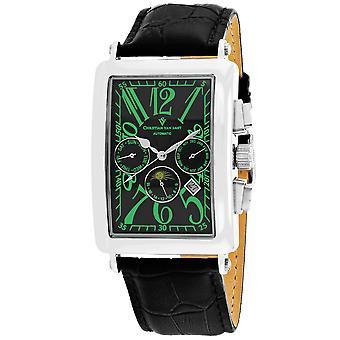 Christian Van Sant Men-apos;s Prodigy Black Dial Watch - CV9136