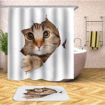 Cat Says Hello Shower Curtain