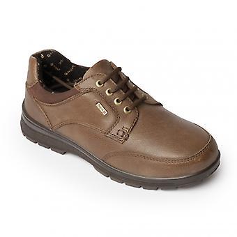 Padders الذروة السيدات الجلود اضافية واسعة (2e/3e) الأحذية Taupe