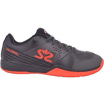 Salming Mens Viper 5 Lava Lace Up Sports Indoor Court Squash Trainers Shoes Grey