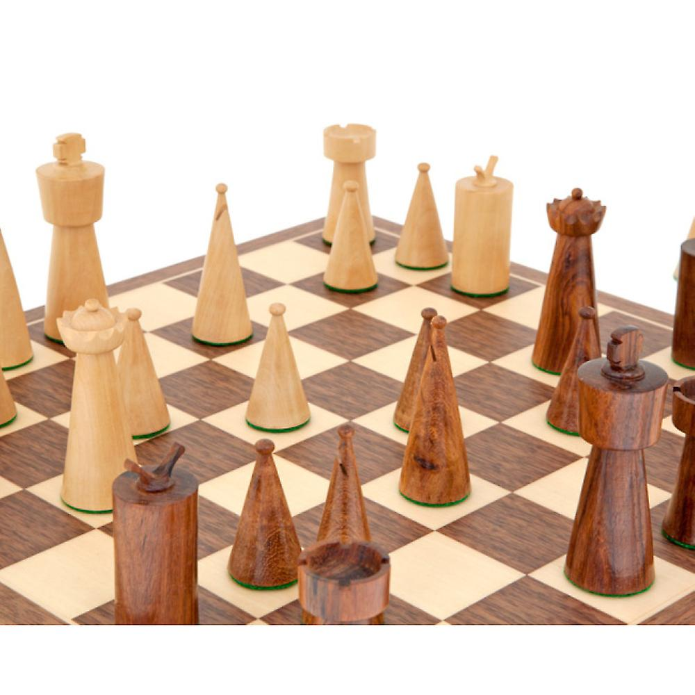 Art Deco Walnut Chess Set