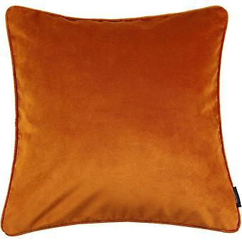 Mcalister tekstylia matowy spalony pomarańczowy aksamit poduszka