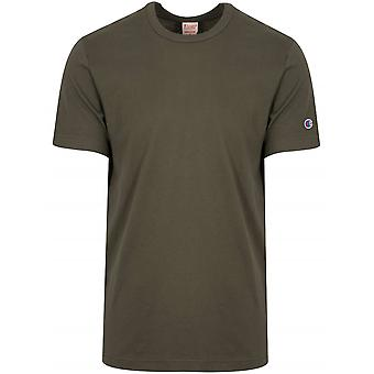 Champion Champion Reverse Weave Khaki Arm Logo T-Shirt