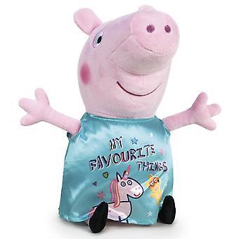 Peppa Pig Greta Gris Unicorn Stor Gosedjur Plysch Mjukis 45cm Turkos