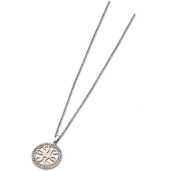 Necklace and pendant privileges LS1779-1-2 - necklace and pendant circle gold Rose Ajour woman