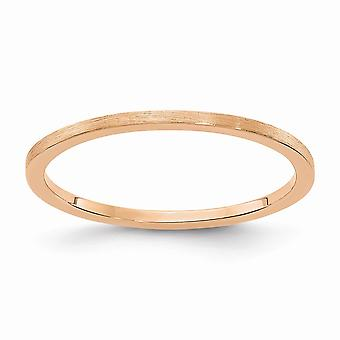 10kr 1.2mm Flat Satin Stackable Band Ring Jewelry Gifts for Women - Ring Size: 4.5 to 10