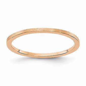 10kr 1.2mm Flat Satin Stackable Banda Anello Gioielli Regalo per le Donne - Dimensione anello: 4.5 a 10