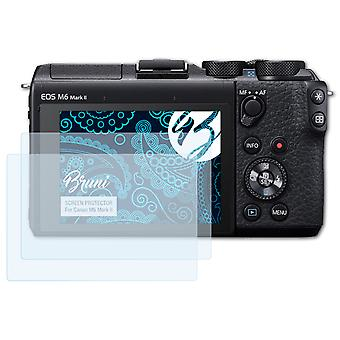 Bruni 2x Screen Protector compatible with Canon M6 Mark II Protective Film