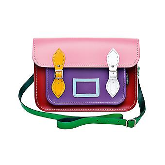 Zatchels Womens/Ladies Handcrafted Leather Kaleidoscope Satchel Bag (British Made)