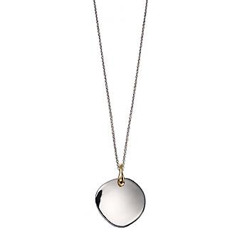 Fiorelli Silver & Yellow Gold Plated Disc Pendant