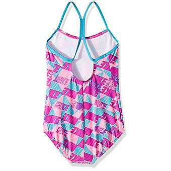NIKE Swim Girls' Big Racerback One Piece Badedragt, Fuchsia Blast Nike Graphic...