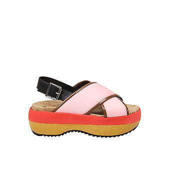 Marni Zpms00506tp639zl764 Women's Pink Polyester Sandals