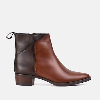 Abi brown leather ankle boot