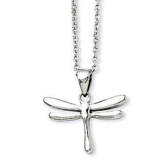 Edelstahl Fancy Hummer Verschluss poliert Libelle Anhänger 20Zoll Halskette 20 Zoll Schmuck Geschenke für Frauen