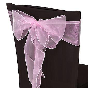 17cm x 274cm Organza Table Runners Wider et Fuller Sashes Baby Pink