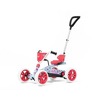 BERG Buzzy Bloom 2-in-1 Pedal Go Kart With Parental Push Bar Pink/Blue Ages 2-5