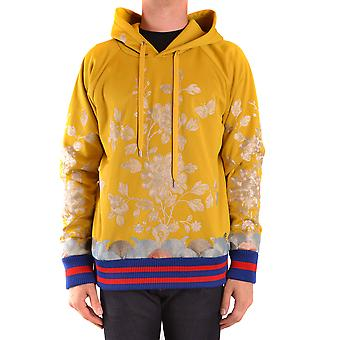 Gucci Ezbc012011 Men's Yellow Polyester Sweatshirt