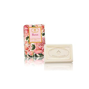 Saponificio Artigianale Fiorentino Handmade Rose Soap Floral Sweet Fragrance Lovingly Wrapped in Wrapping Paper 150g