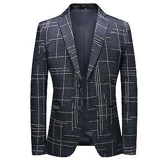 גברים ' s התאמה סלים חליפה ז'קט 2 מכופתר מודפס פרחוני בלייזר רשמי