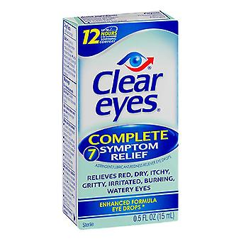 Clear eyes complete 7 symptom relief eye drops, 0.5 oz