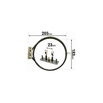 Indesit 2700 Watt Ventilator Backofen Element