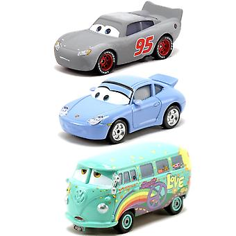 3-Pack Cars Cars Radiator Springs Classic McQueen, Sally & Fillmore Diecast