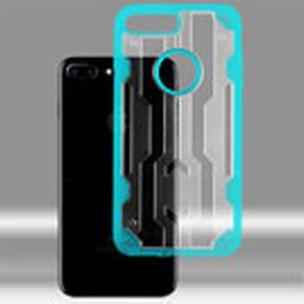 ASMYNA Chali Hybrid Case for Apple iPhone 8/7 Plus - Transparent Clear/Light Blue