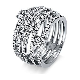 Diamond Ring Ring - 18K 750/- White Gold - 1.23 ct. - 1R049W854 - Ring width: 54