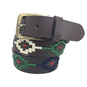 Carlos diaz unisex brun læder polo bælte cdupb110
