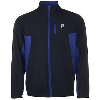 Prince Mens Zipped Warm Up Jacket Tracksuit Top Coat High Neck Lightweight Zip