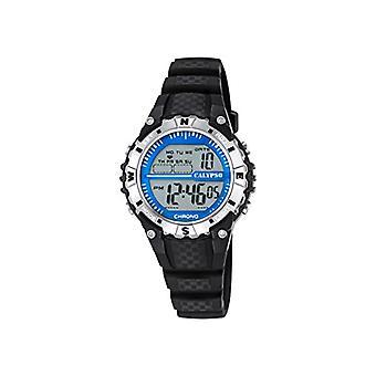 カリプソ K5684/1-ユニセックス腕時計、プラスチック、色: 黒