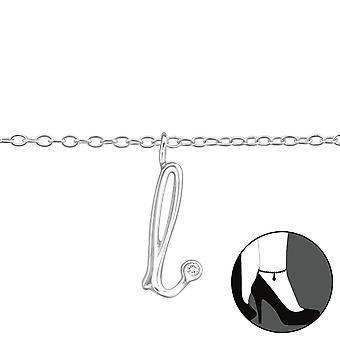"""""""l"""" - 925 sterlinghopea nilkkakoruissa - W36613x"""