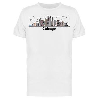 Outline Chicago Illinois Tee Men's -Kuva Shutterstock
