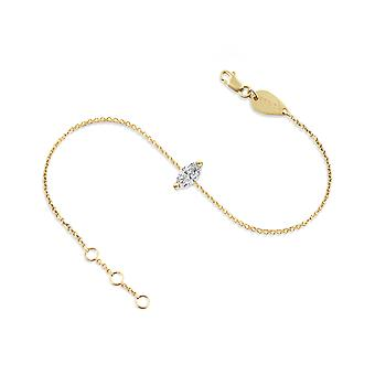 Anklet Diamond Marquise-cut 18K Gold - Yellow Gold