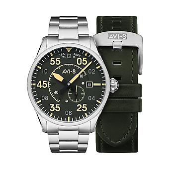 AVI-8 AV-4073-22 Spitfire Type 300 Automatisk armbåndsur Grøn