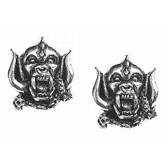 Motorhead Stud σκουλαρίκια Αγγλία Warpig Band Λογότυπο νέο Επίσημο Μεταλλικό