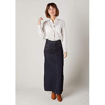 Natalie long denim skirt - indigo