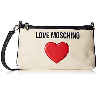 Love Moschino Bolsa Lona E Guijarro Pu Mujeres (Negro) 4x16x27 cm (An x Al x L)