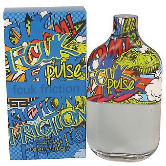 Fcuk Friction Pulse Eau De Toilette Spray By French Connection 3.4 oz Eau De Toilette Spray