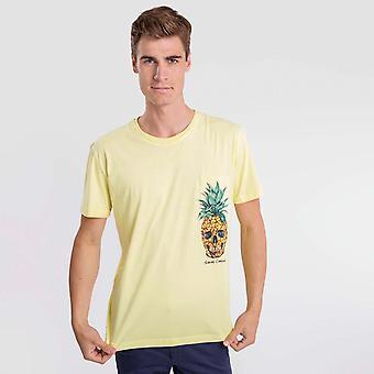 Camiseta amarela do crânio de abacaxi