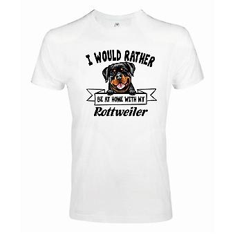 Rottweiler Squinting Dog T-Shirt - Liever met...