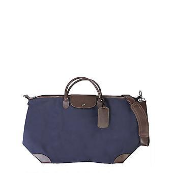 Longchamp 1624080127 Men's Blue Canvas Travel Bag