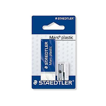 Staedtler Mars Plastic Eraser And Sharpener Set