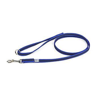 """Julius-K9 Couleur & Gris Super-Grip Leash Blue-Grey Largeur (1/2"""" / 14mm) Lenght (4ft / 1.2 m) Avec poignée, Max pour 66lb/30 kg Chien"""