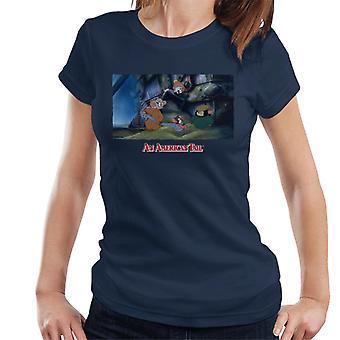 Americký ocas bulvy sirotčí ženy ' s tričko